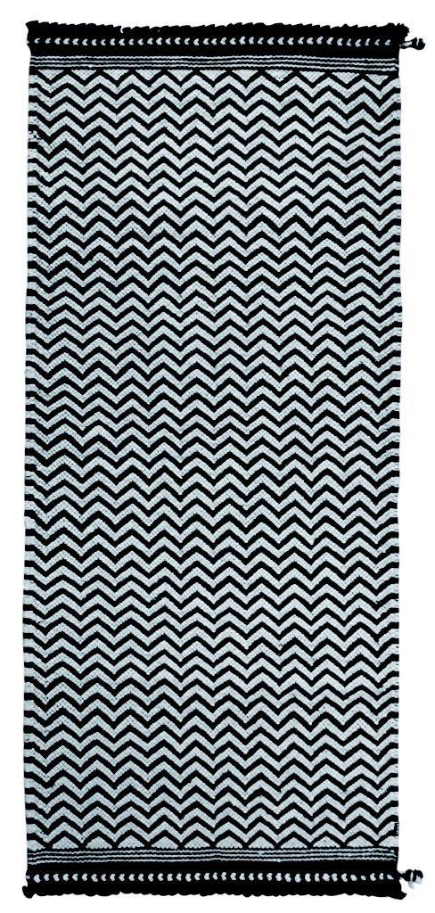 TIKAU Zick Zack black/white 80 x 180 cm