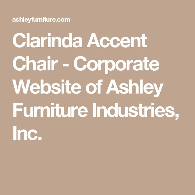 Clarinda Accent Chair - Corporate Website of Ashley Furniture Industries, Inc.