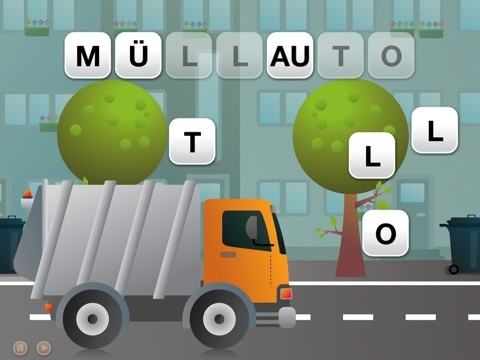This app teaches German kids the letters of the alphabet and has rewarding animations when the kids succeed.