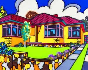 Howard Arkley - love the use of colour