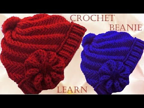 Como tejer gorro boina a Crochet o ganchillo en punto relieve - YouTube