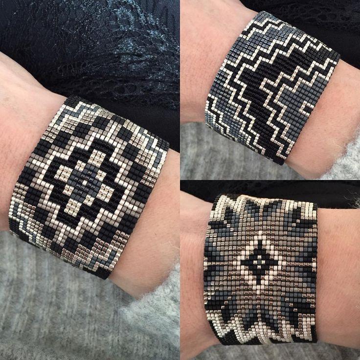 50 nuances de grey Tous ces modèles seront disponibles ce soir dans la boutique #manchette#braceletoftheday#bohochic#boho#ethnic#navajo