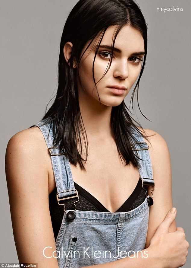Strike a pose: Kendall Jenner models a collection of laid-back, casual clothing in her new campaign for Calvin Klein Jeans