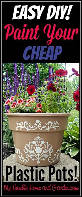 Check out this Easy DIY!  Paint Your Cheap Plastic Pots!  It seems like I have been painting everything!  Life seems to get in the