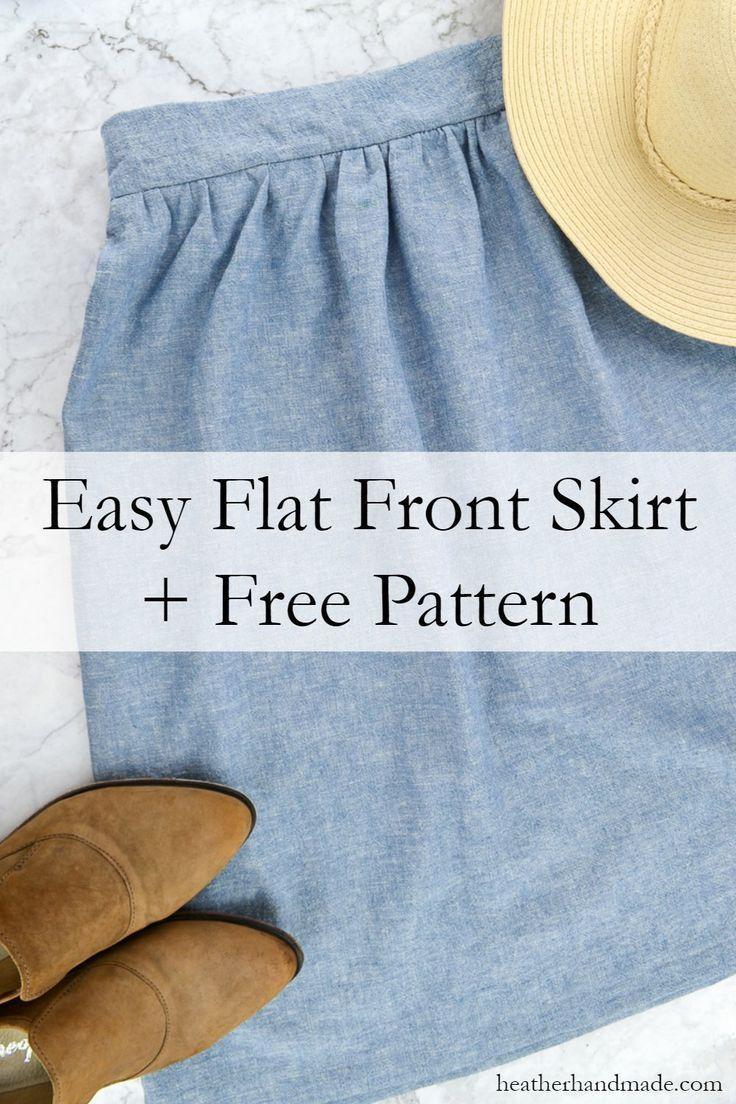 Make an easy skirt in any size with this free flat front skirt pattern. The skir…