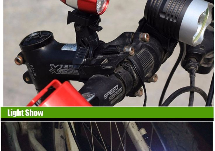 6-LED Bike Front White Head Light Mini Safety Lamp Flashlight - Free Shipping…