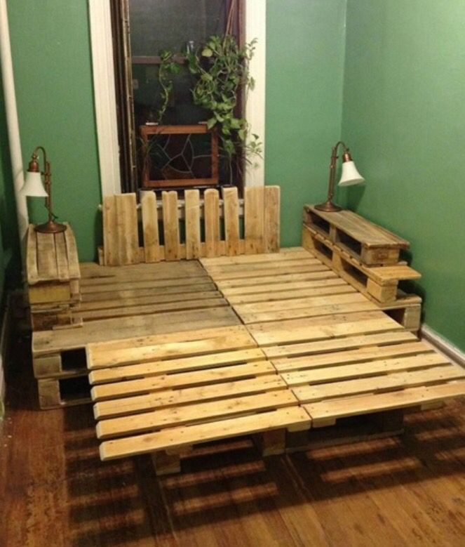 30 best wooden crates pallet furniture images on pinterest diy pallet bed home ideas and Wooden crates furniture