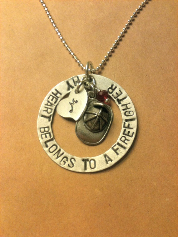 listing il wife firefighter necklace girlfriend