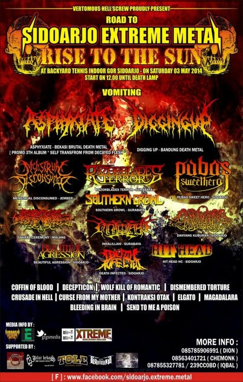 Extreme Metal Rise to The Sun 3 Mei 2014