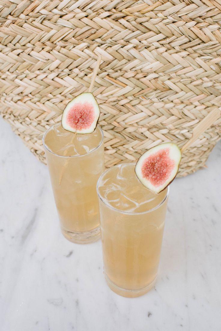 Fig Cocktail: figs, bourbon, ginger beer.
