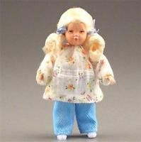 Dollhouse Dressed Little Girl Caco DHS0261 Blond aqua pants white top NRFB 1:12