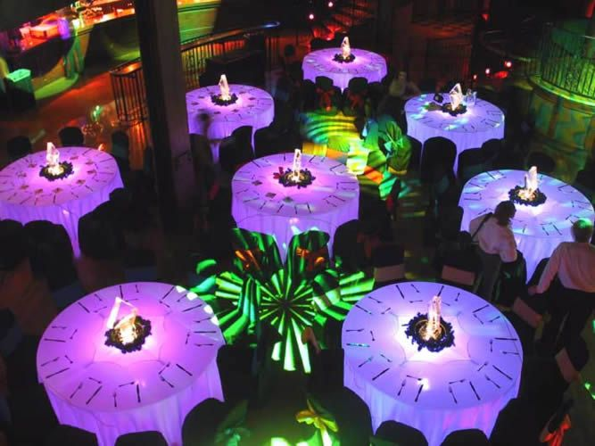LED Opulent Ice Tables are great for awards ceremonies and corporate events - all lights are also individually controllable allowing you to provide some awesome lighting effects.