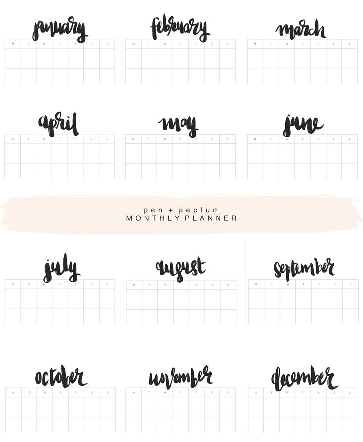 Printable Monthly Planner 2015: Best 25+ 2015 Calendar By Month Ideas On Pinterest