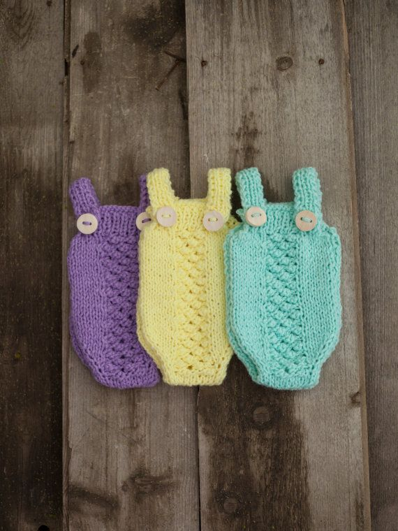 Newborn Romper/ Hand Knitted Baby Romper/ Baby by GabriCollection