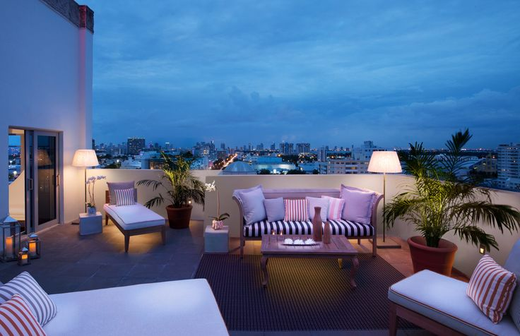 View from the SLS Suite at SLS South Beach in Miami FL