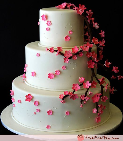 Cherry Blossom Wedding Cakes » Spring Wedding Cakes #CherryBlossoms #WeddingCake