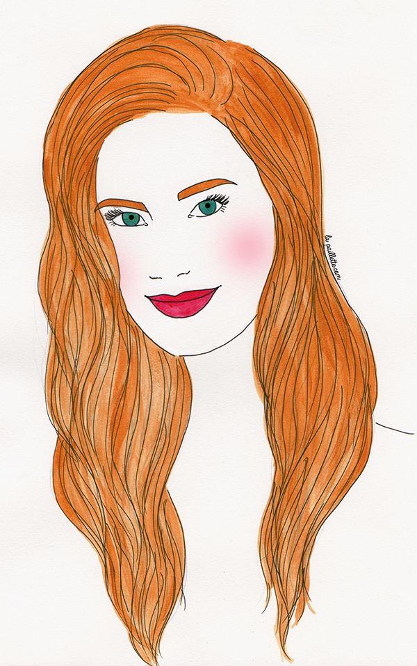 portrait peinture ginger rousse painting