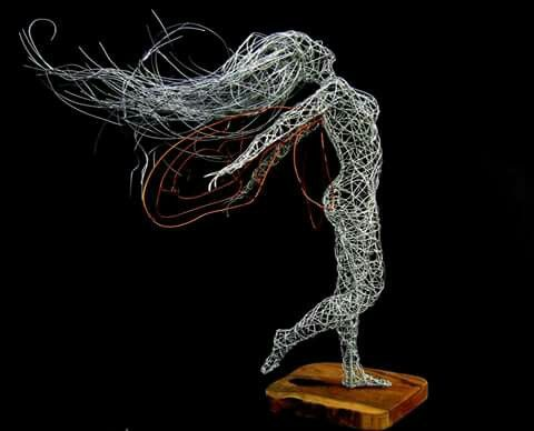 Wire fairy #wireart #wirefairy #sculpture #drahtkunst