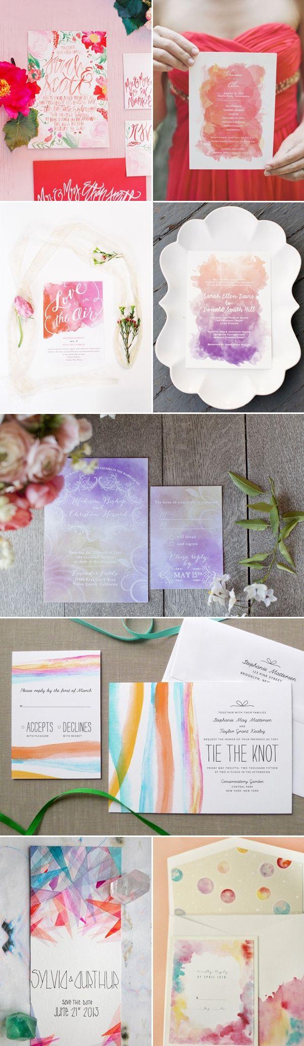 29 Watercolor Wedding Invitation Ideas You Will Love via Deer Pearl Flowers