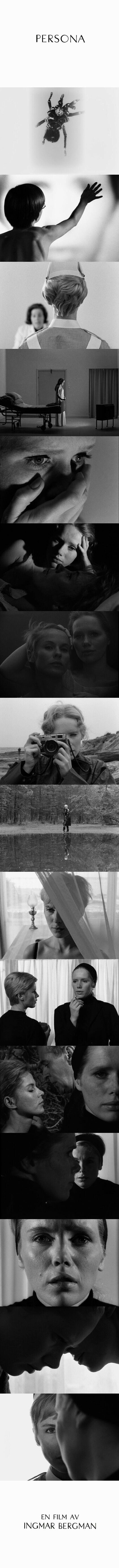 Persona (1966) Directed by Ingmar Bergman. Cinematography by Sven Nykvist.