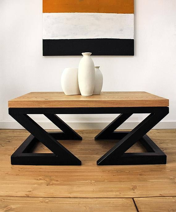 Modern Coffee Table Double Z By Soxoni Wooden Furniture Industrial