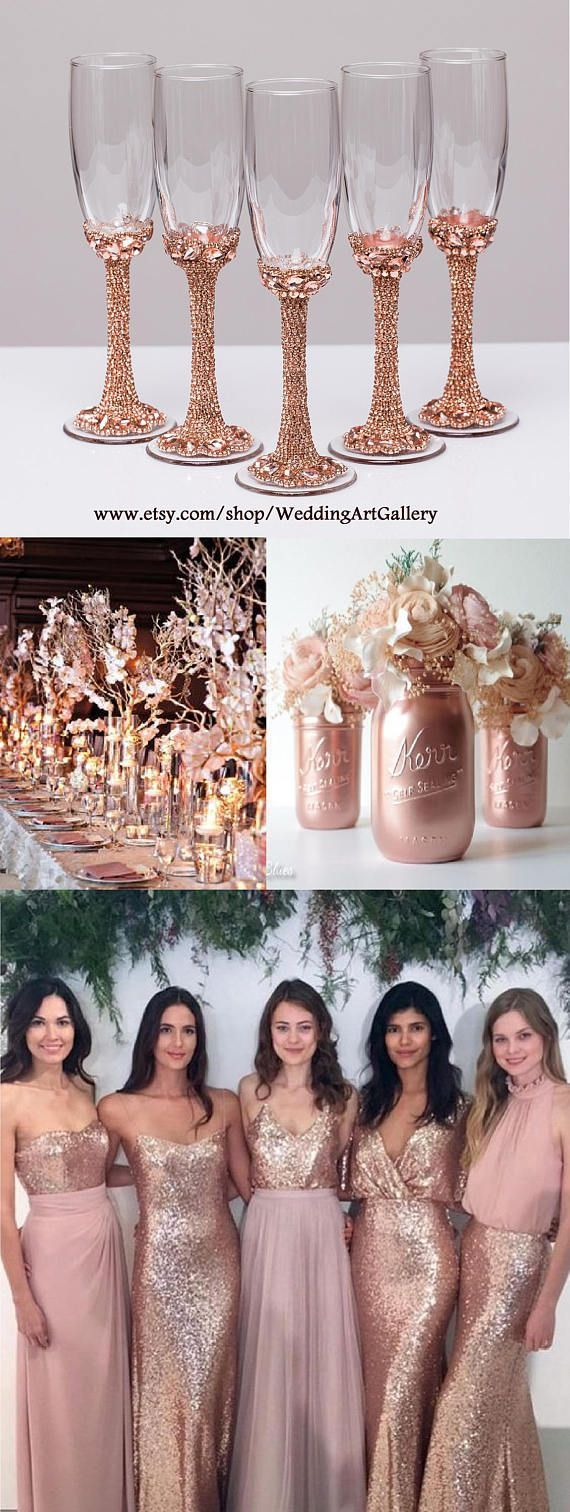 Rose Gold Quinceanera Decorations 3