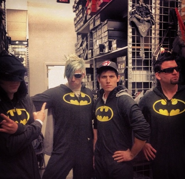 My favourite band wearing my favourite superhero onesies... My life is complete!