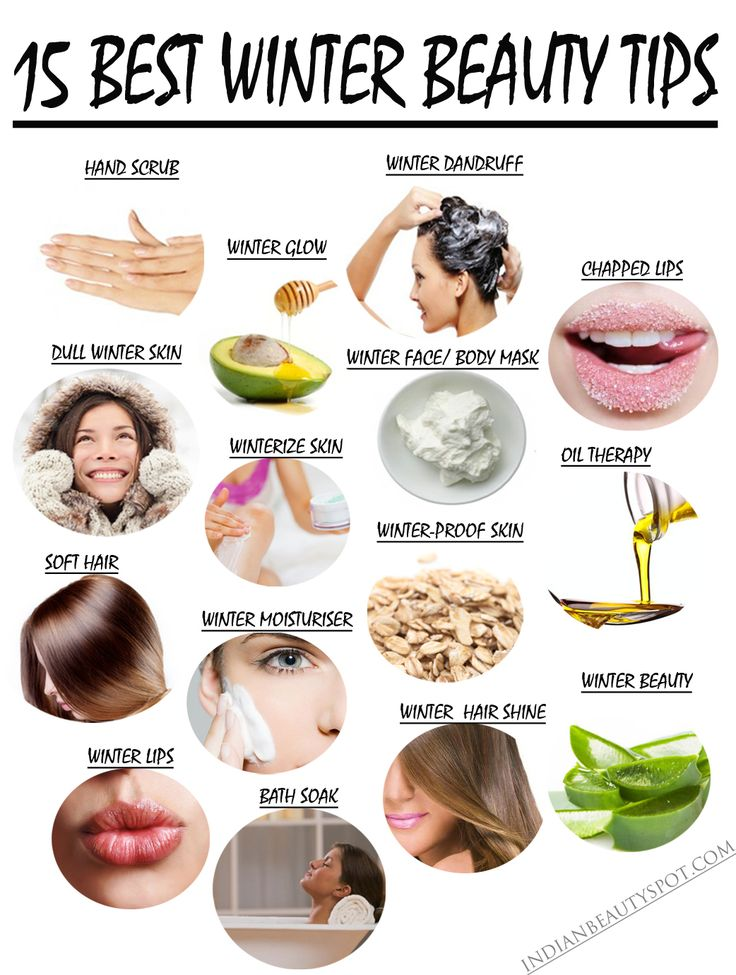 Hover over the image or find the links below to 15 top natural homemade winter beauty tips to stay glowing and gorgeous: 1. Winter Hand...