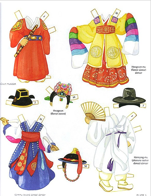 Clothes for Korean girl and boy dolls
