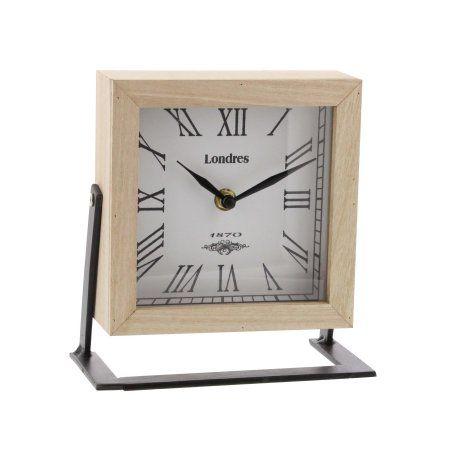 Home Metal Clock Wood Metal Clock