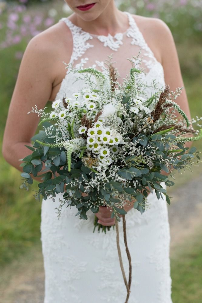 Fynbos bouquet | SouthBound Bride | http://www.southboundbride.com/rustic-navy-red-yellow-wedding-at-the-cowshed-by-laura-leigh-leande-martin | Credit: Laura Leigh