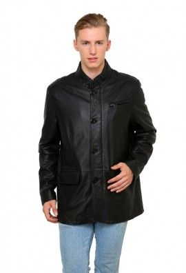 LAMB LEATHER JACKET WITH BUTTONED FRONT