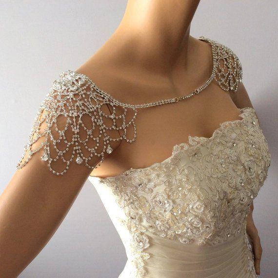 Wedding Shoulder Necklace, Shoulder Jewelry, Wedding Dress for Shoulder, Bridal Shoulder Necklace, Body Accessory For Wedding, Shoulder