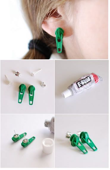 Pandahall.com offers you jewelry  making ideas and easy picture instruction to help you to finish this zip-fastener earring.