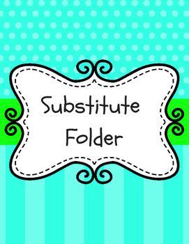 Colorful Substitute Folder/Binder Dividers                              …
