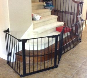 Extra Large Custom Bottom Of Stairs Gate