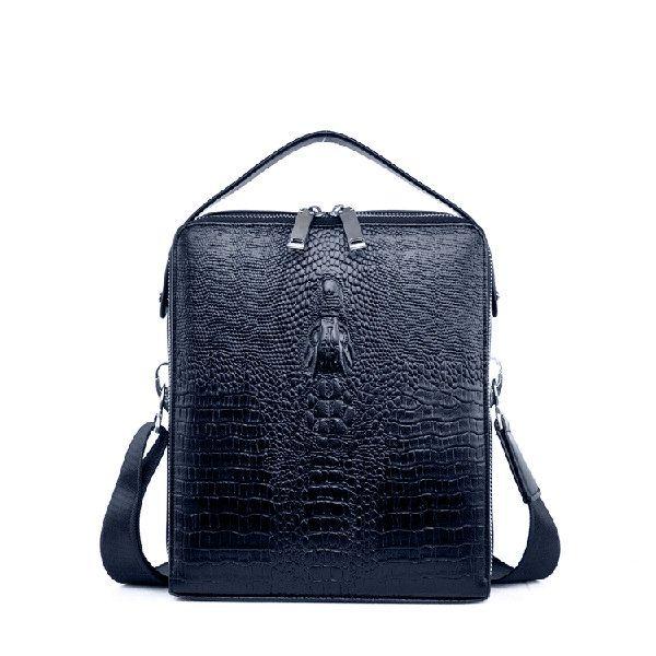 Genuine Leather Bag Large Capacity Crocodile Pattern Bag Business Briefcase iPad Bag For Men