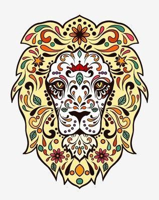 Animal sugar skull tattoo - photo#7