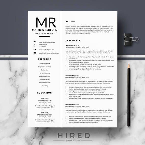 Professional Resume Templates Minimalist Resume CV template
