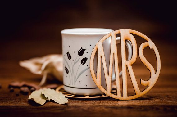 MRS-Wooden Coaster for glass-laser cut-for tea or coffee cup-drink-A003
