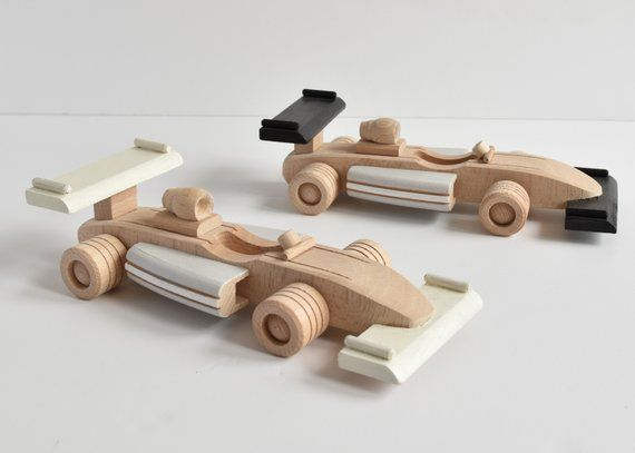 Formula 1 Wooden Vehicles Wooden Toys Racing Car Gift For Kids