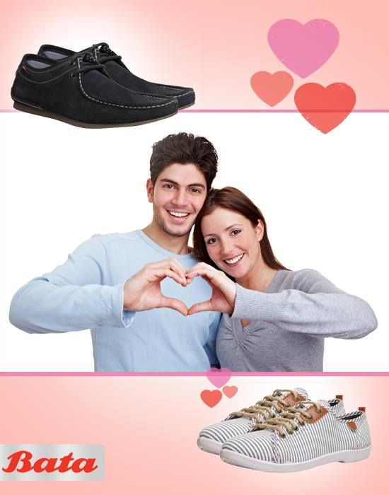 Good things come in pairs. Like you and your partner and your Bata shoes. #WithLoveFromBata