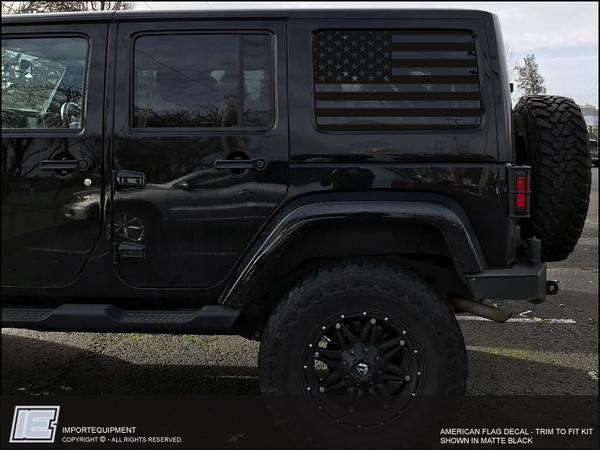 Jeep Wrangler Jk American Flag Side Window Decal Fits 2007