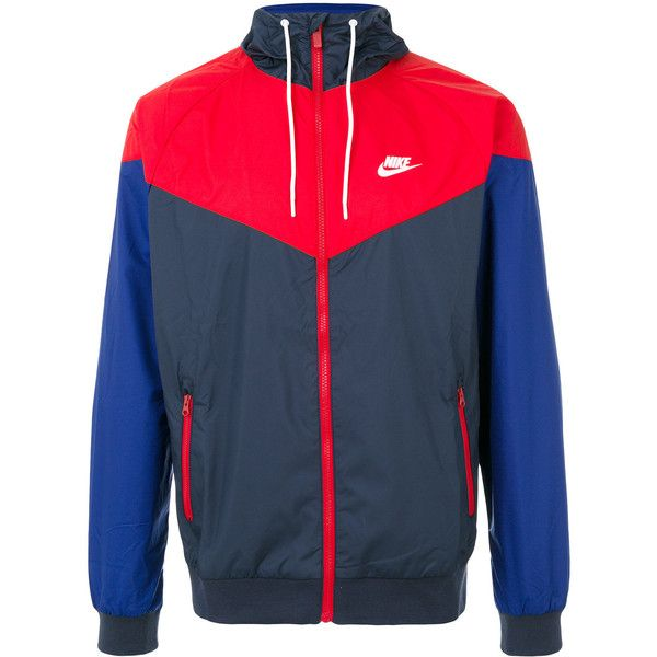 Nike classic windrunner jacket ($84) ❤ liked on Polyvore featuring men's fashion, men's clothing, men's activewear, men's activewear jackets, grey and nike