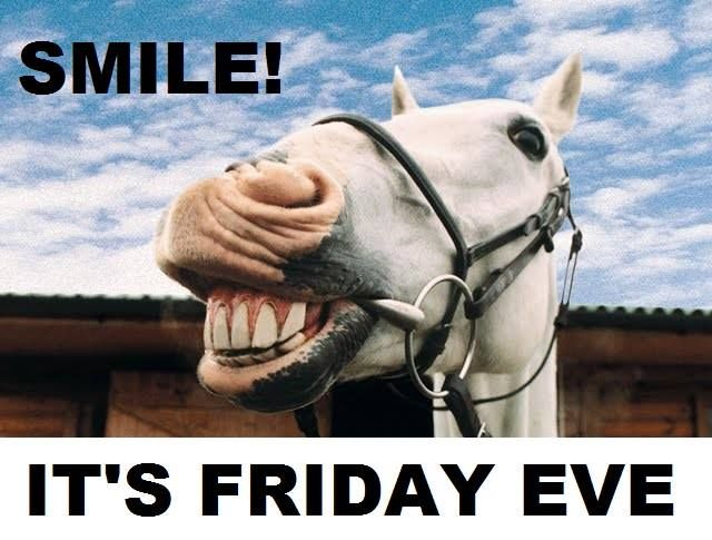 Smile, it's Friday eve! #TGIF