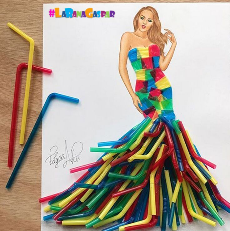 Congraaaaaaatulations EDGAR ARTIS ... a young Armenian fashion illustrator who dresses his models with any kind of food ... you have a lot of future ahead ... #LaRanaGaspar
