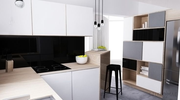 Kitchen and living room designed by STUDIO MAC