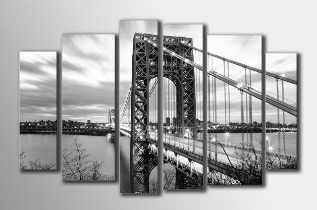 Картина модульная (54х87 см.) - Мост, Арт. HAV-002