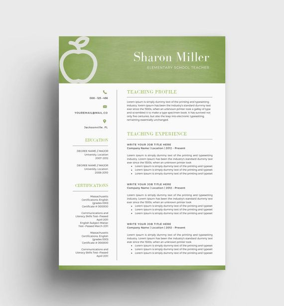 The 25+ best Teacher resume template ideas on Pinterest Resumes - sample elementary teacher resume