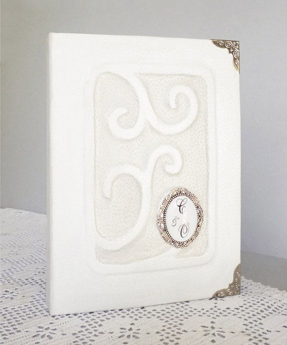 Personalized Wedding Photo Album Leather Custom by AnnaKisArt #anniversaryalbum, #weddingalbum, #personalizedalbum, #whitealbum, #photoalbum, #weddinggift, #leather, #photoalbum, #monogrammedgift,  #familyalbum, #customalbum